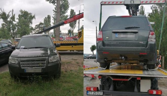 Maşinile parcate pe spaţiul verde, în Mamaia, ridicate de poliţiştii locali - masinileparcate-1626963642.jpg