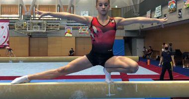 Maria Ceplinschi, de la CS Farul, ţine România pe harta mondială a gimnasticii